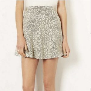 Topshop Jacquard Circle Skirt